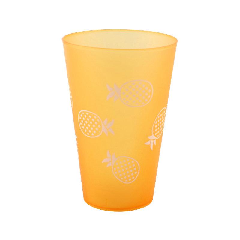 400ml 14oz食品级塑料PP透明杯无BPA促销可重复使用的磨砂杯