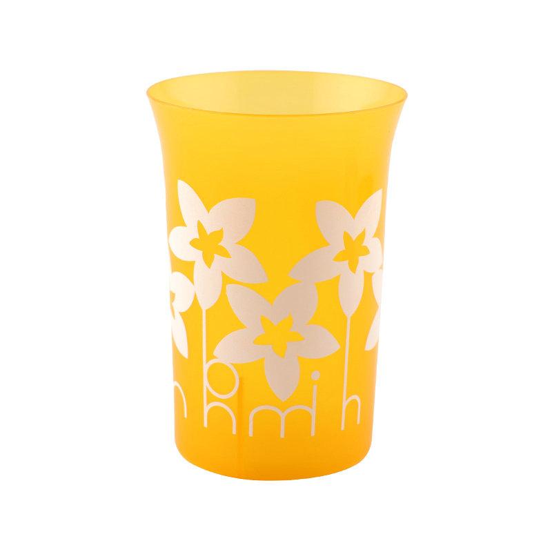 可定制LOGO便宜喇叭口塑料水杯果汁杯