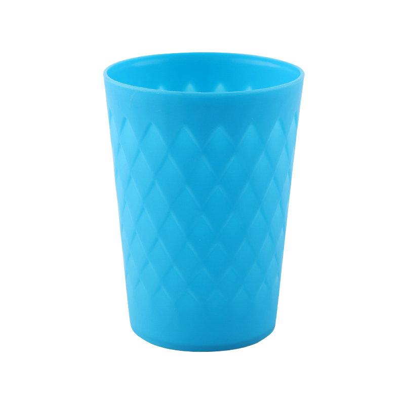 300ML带菱格PP便宜塑料水杯