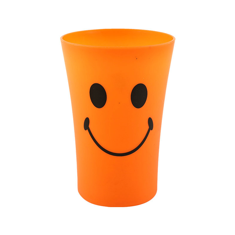 350ml廉价可重复使用塑料果汁饮水杯