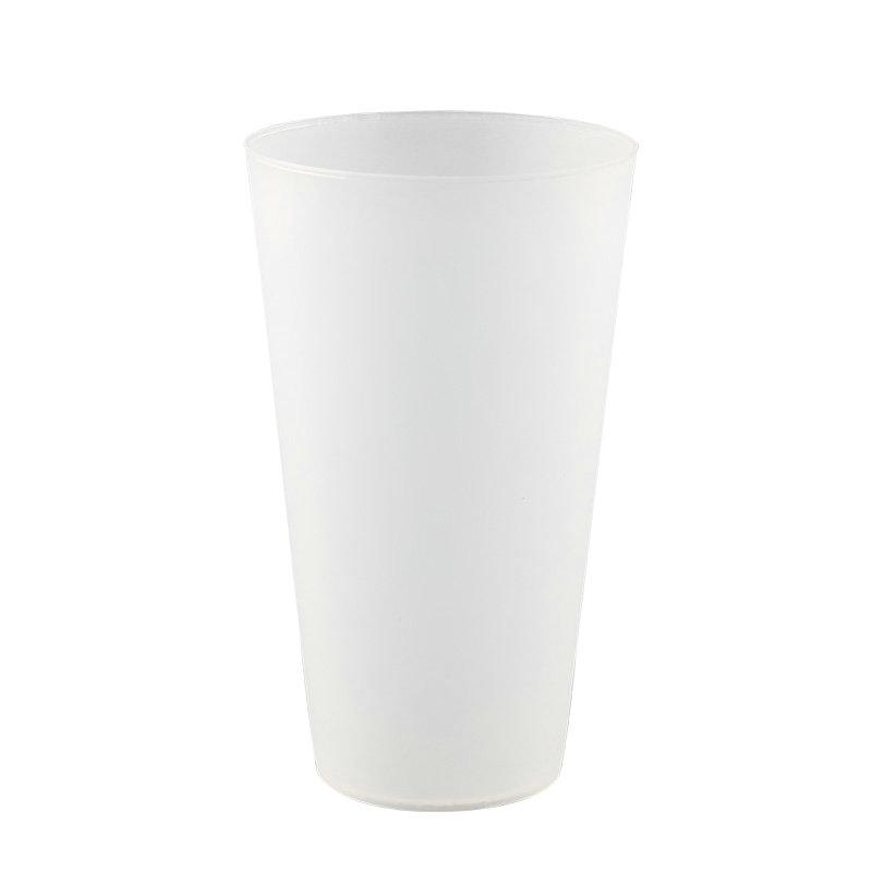 21盎司食品级塑料PP透明杯无BPA促销可重复使用饮料杯