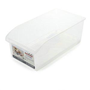 优质食品级透明款带滑轮冰箱蔬菜收纳盒