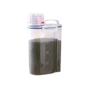 亚马逊热销2.5L带提手无双酚A 塑料密封罐干货罐