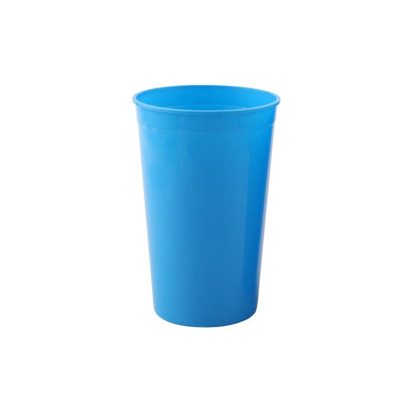 新款广告徽标彩色透明环保塑料16oz可重复使用的简约饮料杯
