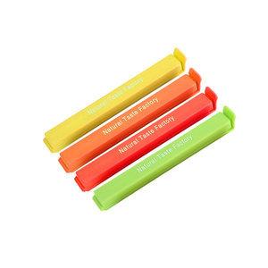 12.7厘米可印logo塑料食品袋封口夹广告促销礼品夹