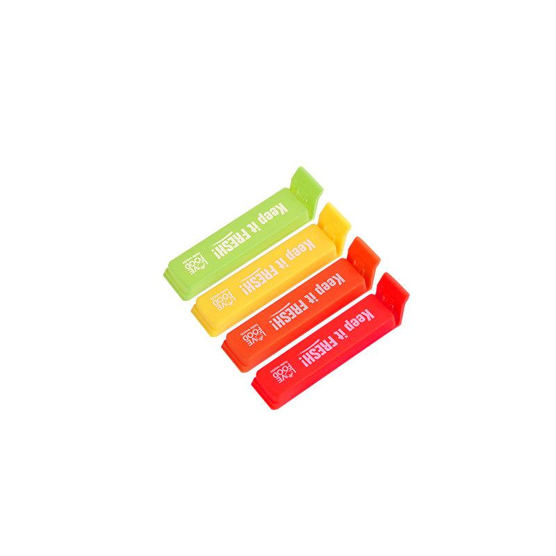 QM工厂批发2.4'可印logo塑料咖啡袋密封夹