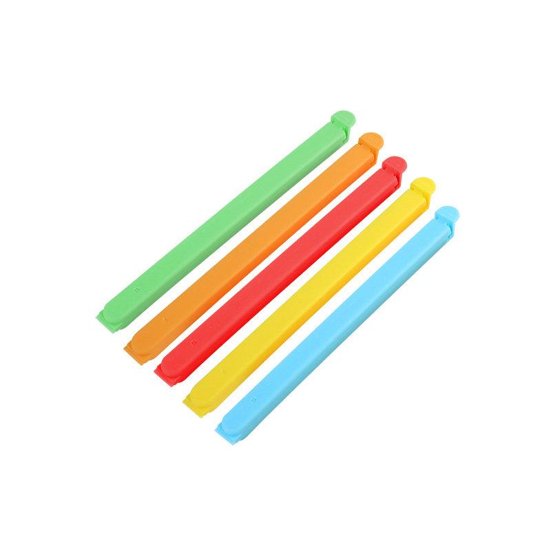 QM批发定制徽标16cm袋夹塑料食品袋封口夹