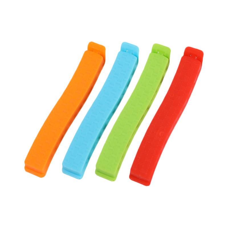 QM厂家直销11cm波浪形塑料面包袋夹子塑料食品袋密封夹